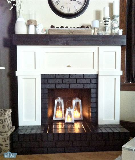fireplace cover up covering brick fireplace surround woodworking projects