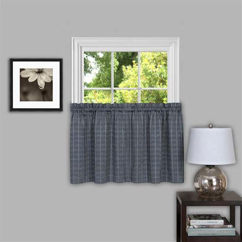 grey tier curtains achim sheer sydneyx 14 in l polyester window curtain tier
