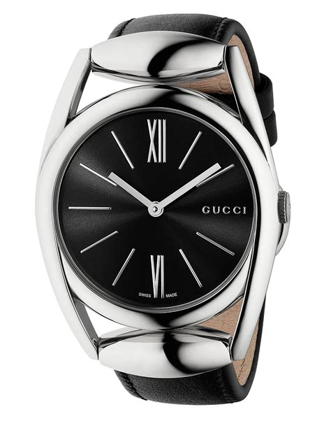 Mt185hublot Leather Stainless Black gucci horsebit stainless steel leather black in black lyst