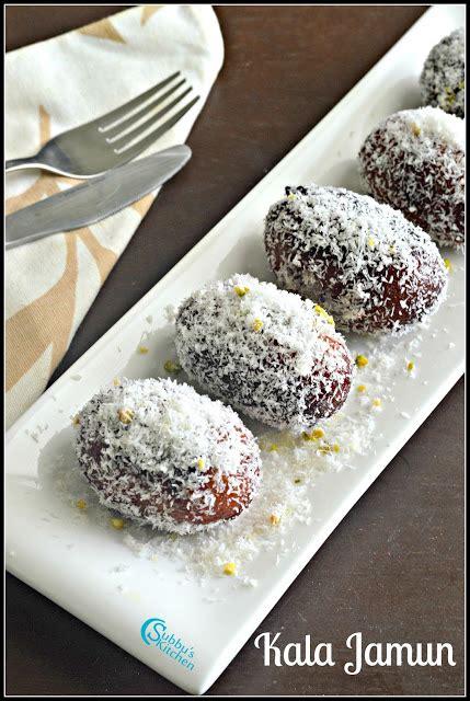 Kala S Kitchen by Kala Jamun Recipe How To Make Kala Jamun With Nuts