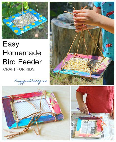 crafts  kids homemade bird feeders  frames