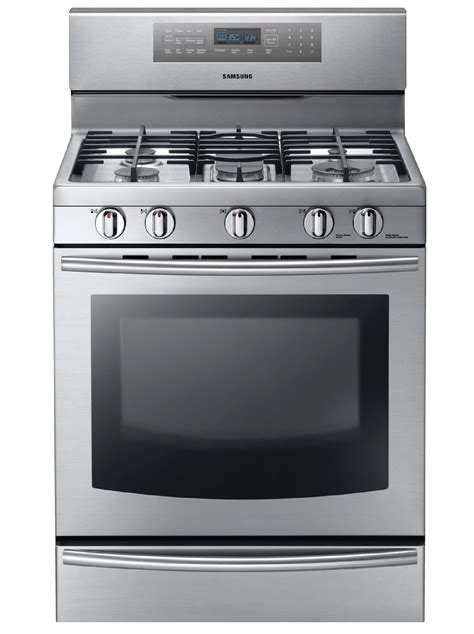 Samsung Range by Samsung Nx58f5700ws 5 8 Cu Ft Gas Range W True Convection Stainless Steel