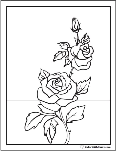 rose coloring pages pdf coloring pages of rose buds coloring page