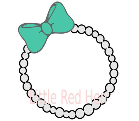 Jewelrys Silhouette Circle To Remind You Of Whats Important by Pearl Necklace With Bow Monogram Frame Svg From