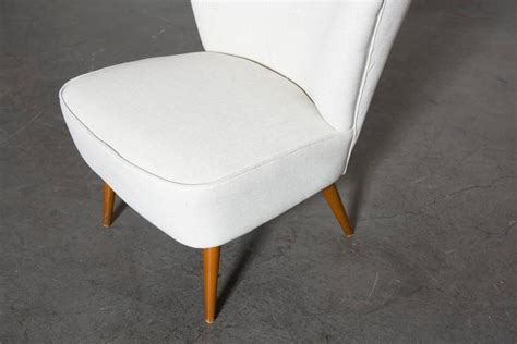 Small Armless Chair Armless Small Wing Back Boudoir Lounge Chair At 1stdibs