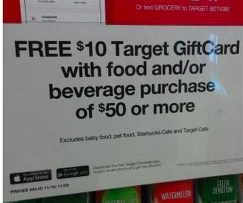 Target 10 Gift Card When You Spend 50 - target spend 50 on food beverages get 10 gift card the accidental saver
