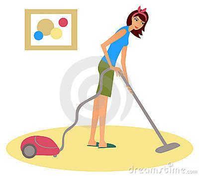 Hoovering The Floor by With A Hoover Royalty Free Stock Photography Image