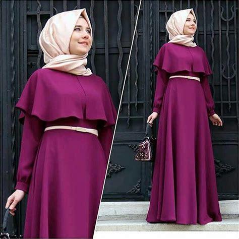desain dress casual muslim 10 desain baju muslim dress modern dan mewah terkini