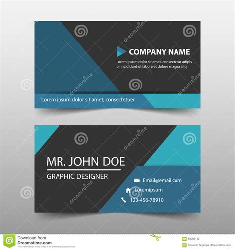 Business Card Clean Template Design Illustrator by Blue Triangle Corporate Business Card Name Card Template