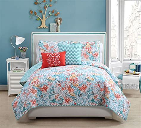 turquoise and orange bedding 5 pc reversible turquoise white orange comforter queen