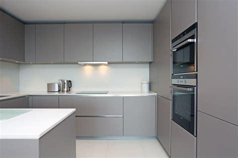 Grey Handleless Kitchen basalt grey matt kitchen