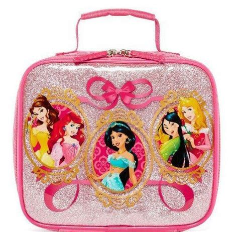Ariel Soft Lunch Box disney princess lunch box bag tote school pink ariel