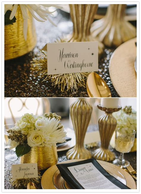 sultry roil black white gold new year s wedding ideas