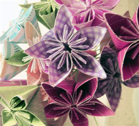 Paper Folded Flowers - diy origami flowers make something mondays