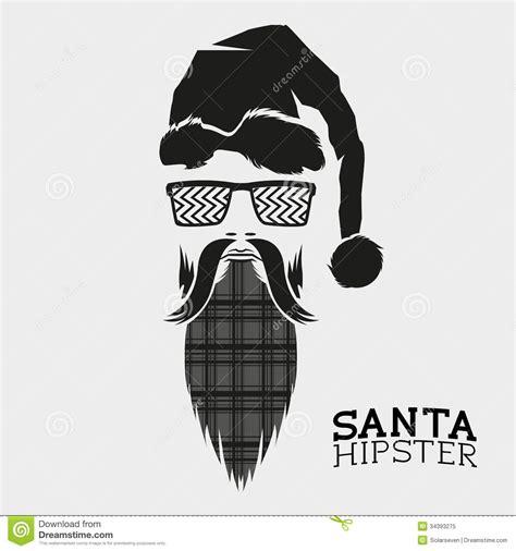 vector illustration layout santa hipster vector stock vector image of card vintage