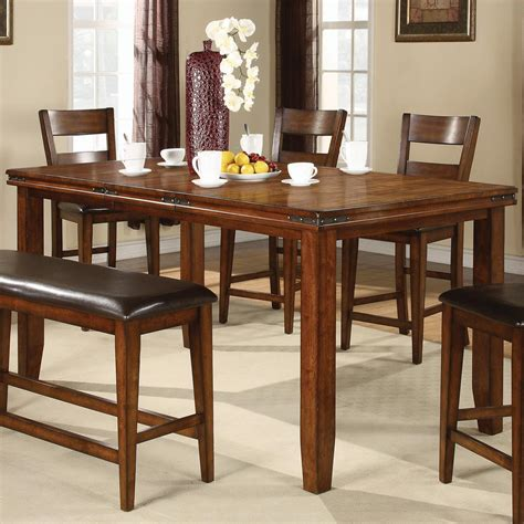 crown mark harrison counter height crown mark figaro counter height table with leaf