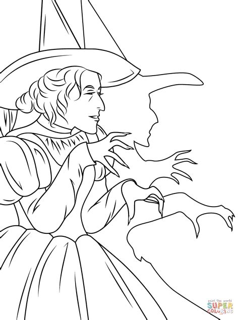 wizard of oz wicked witch coloring page free printable