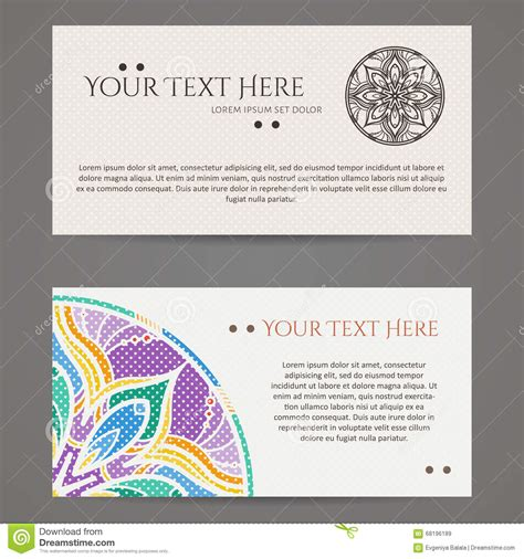 free circle business card templates set of vector design templates business card with floral