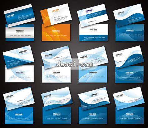 company id card template cdr 12 blue business card design template deoci vector