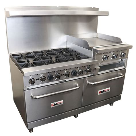 What Is A Gas Range Stove by Commercial Gas Range Griddle 24 Inches Broiler 6br Ng