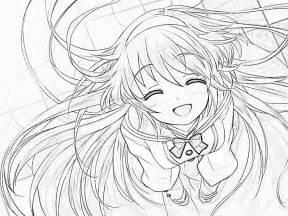 Anime Girl Drawing 2 By KatKoyoX On DeviantArt sketch template