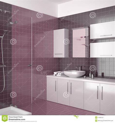 purple and white bathroom modern purple bathroom with white furniture stock illustration illustration 17635127