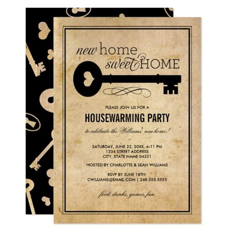 Housewarming Gift Card Template by Housewarming New Home Sweet Home Card Zazzle