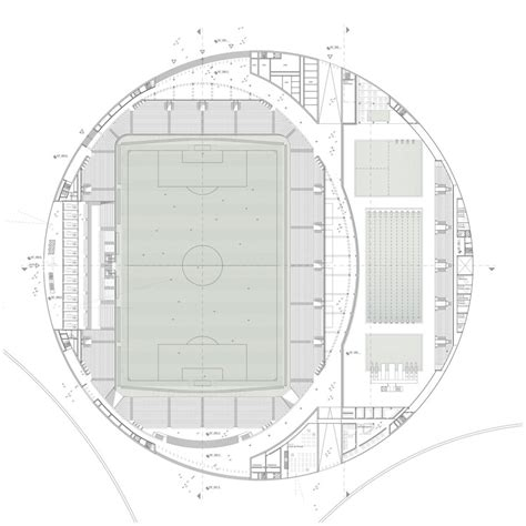 stadium floor plan sports complex and urban re design gmp architekten