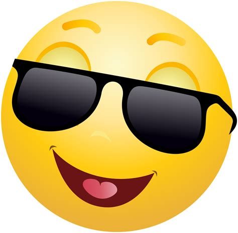 Smile Clipart Smiling Emoticon Emoji With Sunglasses Clipart Info