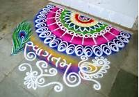 Peacock Rangoli Designs For Diwali 2016