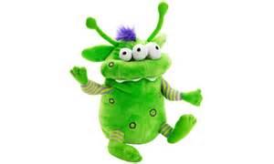 soft toy monster green three eyed crackpot izsnotgreen