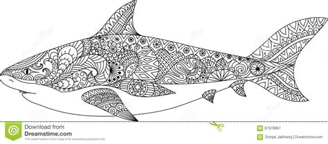 large shark coloring page adult coloring pages mandala shark free adult coloring pages