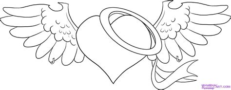 devil heart coloring page how to draw an angel heart step by step tattoos pop