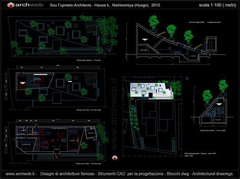 Cad House House K Sou Fujimoto Autocad Plan