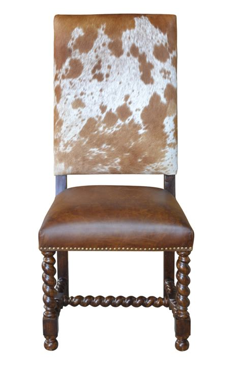 Cowhide Dining Chairs - barley twist cowhide dining chair proffitt
