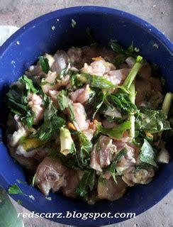 iban ubi daus redscarz resepi ayam masak dalam buluh ayam pansuh