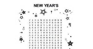 New year s word search activities for kids