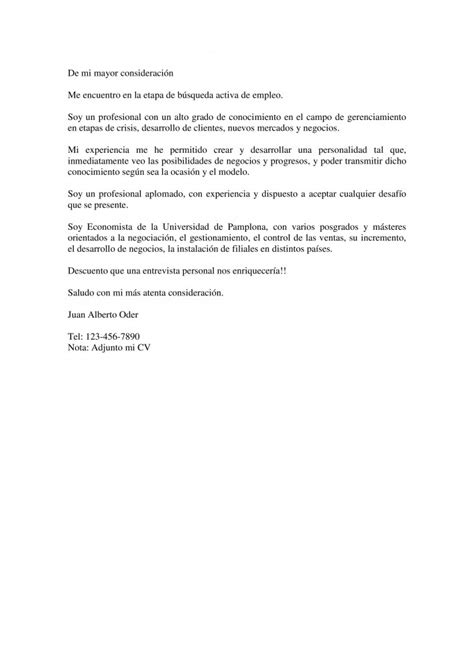 Modelo De Carta De Presentacion Para Curriculum Modelo 1 De Carta De Presentacioncurr 237 Culum Entrevista Trabajo