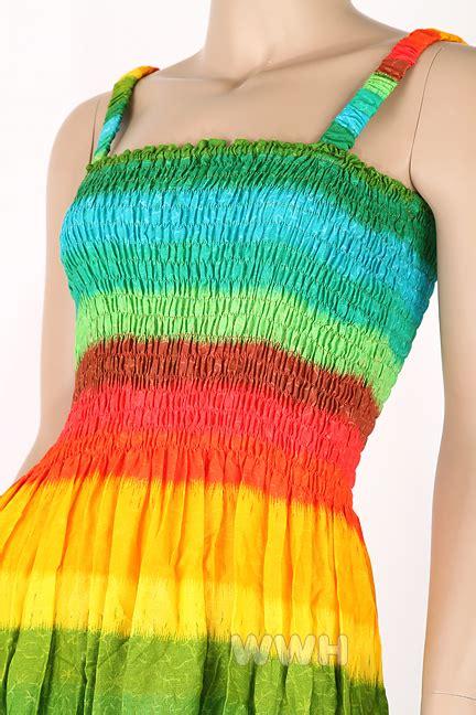 Longdress Rainbow Import A30547 M rainbow bohemian style sun dress summer boho tm041 ebay