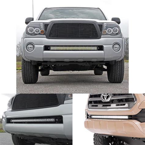 Hidden Bumper Mounting Brackets For 30 Quot Led Light Bar Fit Toyota Tacoma Led Light Bar