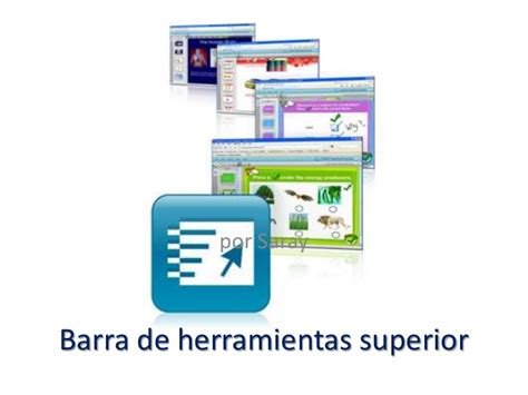 barra de herramientas superior barra de herramientas superior