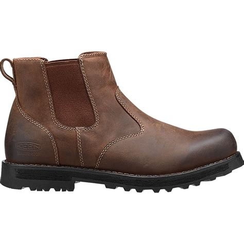 comfortable mens boots keen mens 59 chelsea boot peanut comfortable leather
