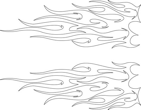 template of flames car pattern printable printable templates scrapbook sketches patterns templates