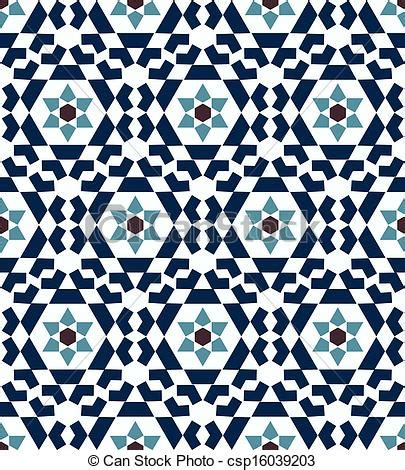 seamless islamic geometric pattern vector clipart search