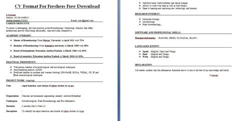 cv format download for freshers best cv format for freshers download