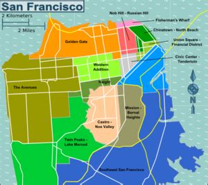san francisco map by district travelling around the world