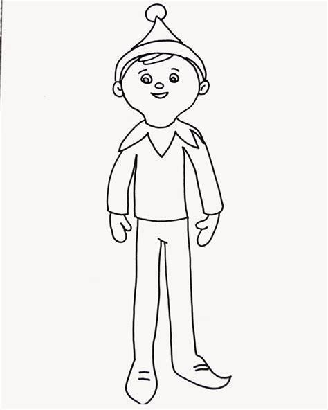 elf on the shelf sized coloring pages elf on the shelf coloring page elf on the shelf