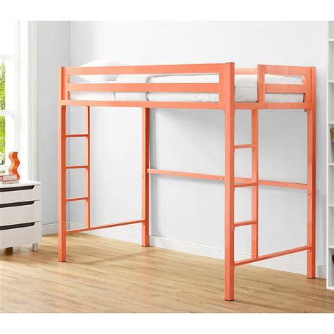 twin metal loft bed walker edison btsqtolcr bentley twin metal loft bed in