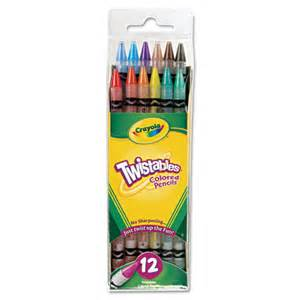 crayola twistable colored pencils crayola 174 twistables colored pencils 12 assorted colors