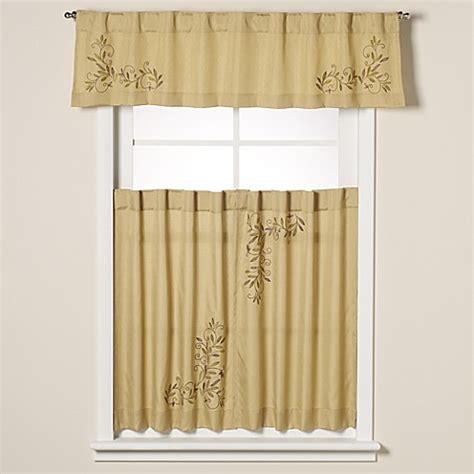 curtain scrolls scroll leaf window curtain valance bed bath beyond